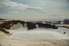 Krafla Viti Crater 07 (sarahmonious) Tags: kraflaviticrater kraftla viti myvatn kraftlavolcano volcanocrater crater hverir snow route1iceland route1 ringroad iceland iceland2016 icelanding2016 traveling