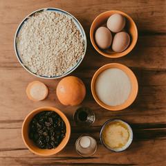 Posin (Laurita Church) Tags: recipe bodegn ingredientes foodporn foodstyling cookies galletas avena huevos azucar pasasdeuva mantequilla naranja vainilla