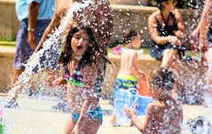 Water View (Andy Arecco) Tags: park playing beach water girl closeup mouth fun open view little florida south cutie hollywood screaming yelling having swimsuit