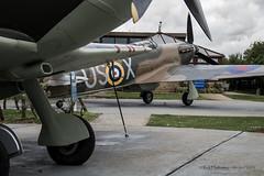 Replica Hurricane (rhfo2o - rick hathaway photography) Tags: reflection canon kent remember hurricane spitfire capelleferne battleofbritainmemorial canoneos7d rhfo2o