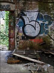 Sample (Alex Ellison) Tags: urban abandoned graffiti factory boobs decay warehouse sample graff derelict printers tgs urbex northlondon samp