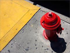 Open (Chris Protopapas) Tags: nyc newyorkcity hydrant fire sidewalk butts iphone