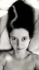 The Bride of Frankenstein (eweliyi) Tags: blackandwhite bw woman me girl face self hair ja frankensteinsbride eweliyi 365v4