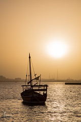 Doha, Qatar (Foraggio Photographic) Tags: travel building lines silhouette architecture boat perspective sydney structure doha qatar dhow miapark