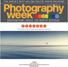 Photography Week (Bruus UK) Tags: ocean sea seascape bird magazine gallery flight smooth calm symmetry minimal serene ripples soothing publication photgraphyweek