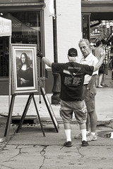 Pink Floyd (DJ Wolfman) Tags: pinkfloyd blackandwhite bw annarbor annarbormi monalisa street streetshots streetphotography olympus olympusomd em5ii art
