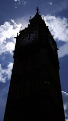 Midday moods (JewellPics) Tags: bigben clouds london westminster clock silhouette