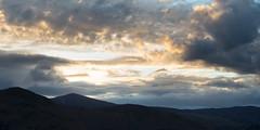 Twin Peaks (ChrisDale) Tags: sunset england cloud sun mountain lake silhouette landscape evening eveningsun district derwent horizon lakes lakedistrict peak ridge cumbria derwentwater keswick cloudscape eveninglight mountainridge chrisdale chrismdale