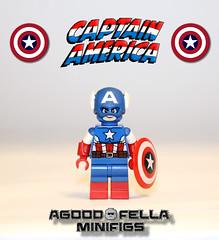 Captain America v.3 [COMICS] [MOC] (agoodfella minifigs) Tags: lego marvel marvellego legomarvel legosuperheroes legomarvelsuperheroes legoavengers captainamerica steverogers avengers custom comics minifigure minifigures moc marvelcomics