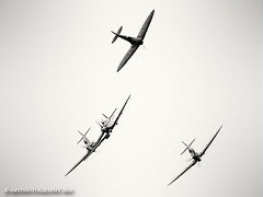 spits-sat-1-2-1 (Stewart Taylor (SMT Photography)) Tags: spitfire supermarine supermarinespitfire flight flyingdisplay flying fighter flyinglegends fighters formation wwii warbird worldwartwo history historic worldwar2 bedfordshire blackwhite blackandwhite raf royalairforce rollsroyce rollsroycemerlin photography photo thefightercollection tfc iwm iwmduxford duxford iconic