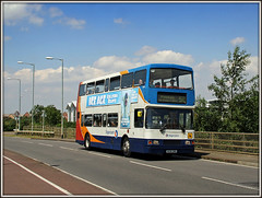 Last Foray down Nectar Way..... (Jason 87030) Tags: drapery town pineham swanvalley volvo oly olympian stagecoach 16696 r696dnh ee scum nectarway july 2016 doubledecker lens scene camera greatbritain image portfolio shot picture upload swans