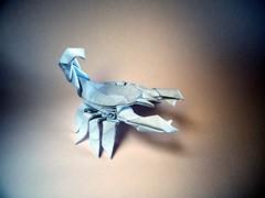 Baby White Scorpion - Riccardo Foschi (Rui.Roda) Tags: origami papiroflexia papierfalten escorpião baby white scorpion riccardo foschi