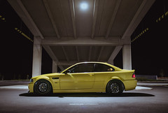 E46 M3 (Winston Gee) Tags: bmw automotive stance yellow phoenix austin car photogprahy wgp nikon static nz auckland work wheels