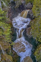 Cascade Falls (Doug Wallick) Tags: cascade falls river minnesota north shore flow aerial foam lutsen state park water spring 2016