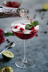 Raspberry and Pomegranate Rose Summer Cocktail -7227 (Aysegul Sanford) Tags: rose drink pomegranate cocktail raspberry