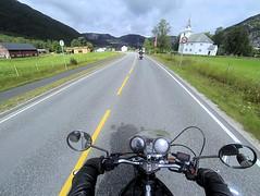 Back on the road. (topzdk) Tags: norway mc motorcycle honda bmw summer 2016 motorcycleride rysstad brokke