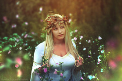 Meadow (Moonless_Nigth_and_Melancholy) Tags: woman melancholy meadow lady gown nature land fairy dreamy conceptual portrait photography photomanipulation mattepianting flowers light sun summer