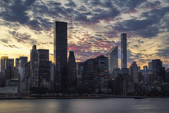 Manhattan Twilight (NYRBlue94) Tags: hdr nyc city sunset river blue cloudy twilight