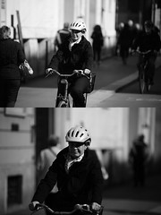 [La Mia Citt][Pedala] (Urca) Tags: milano italia 2016 bicicletta pedalare ciclista ritrattostradale portrait dittico bike bicycle biancoenero blackandwhite bn bw 872157