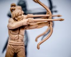 Archery (SKAC32) Tags: hmm canon100mmf28macro archer ancientbriton hooo 172 bowandarrow summerolympicgames macromondays esci modelsoldiers