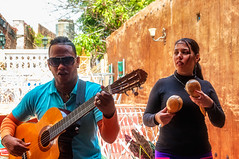 Portraits of Cuba - Musicians (danielacon15) Tags: travel 2016 streetphotography trinidad cuba outdoors musicians singers terrace sunny aspect back light music instruments moment
