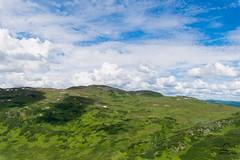 Green Tordrillo Hillside (Glatz Nature Photography) Tags: alaska nikond5 landscape green blue vivid sky clouds mountains matsu matanuskasusitna tordrillomountains wideangle