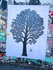 Tree Art, San Francisco, CA (Robby Virus) Tags: sanfrancisco california tree street art paste wheatpaste love 2015 mission district