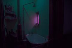 Christiaan Barnard's house. (elsableda) Tags: night neon pink lights bathroom house dark surreal dystopia