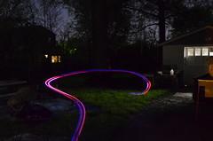 light painting quad copter syma x11 drone (Фото benandangie на Flickr)