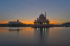 Putrajaya Sunrise | Scene 1 (Shamsul Hidayat Omar) Tags: sunset lake tourism architecture landscape photography high interesting nikon scenery dynamic places scene mosque malaysia putrajaya omar range hdr masjid islamic putra hidayat greatphotographers shamsul photoengine oloneo d800e