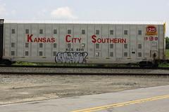Achoo (BombTrains) Tags: road city railroad art train bench graffiti paint tag graf rail spray southern kansas graff freight kcs autorack achoo fr8 2f 8315 2013 benching