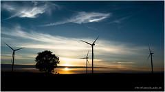 Windmills. (Christian Rohweder) Tags: sunset sky clouds deutschland energy sonnenuntergang natur himmel wolken berge landschaft schleswigholstein windpower windkraftanlage sehestedt hüttener