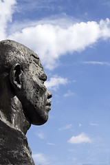 Nelson Mandela (Steven Vacher) Tags: london statue head may nelson mandela nelsonmandela 2015 london2015 may2015