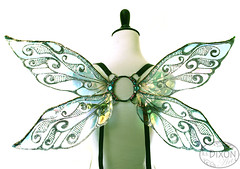 Junebug No.5 Small Fairy Wings (RSDixonArt) Tags: wedding flower halloween girl costume wings cosplay fairy fantasy bridesmaid cellophane pagent fairywings masquerage handmadewearableart