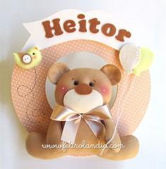 Enfeite de Porta Maternidade Urso com Balões (Feltrolandia) Tags: de pássaro guirlanda porta bebê feltro decoração urso nascimento maternidade marrom bege heitor balões enfeite ursinho bexiga feltrolândia