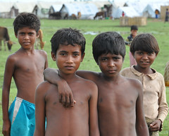 Camp and distribution images from Myanmar