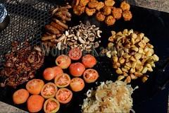 10075466 (wolfgangkaehler) Tags: africa travel cooking breakfast tomato bacon potatoes bush african sausage safari potato zambia fritters southernafrica 2016 zambian southluangwanationalpark