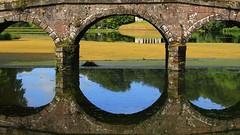 Stourhead - National Trust 180716 (6) (Richard Collier - Wildlife and Travel Photography) Tags: bridge england reflection water gardens stourhead wiltshire nationaltrust landscapegardens
