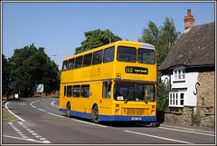 Hunters G801 TBD, Kilsby (Jason 87030) Tags: road school yellow traffic transport northamptonshire july sunny busy transit northants hunters leyland olympian 2016 daventry 1361 lilbourne g801tbd geoffaos