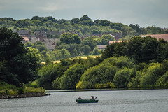 2 men in a boat (watergypsyrach) Tags: rowingboat lake trees water thryberghcountrypark rotherham landscape nikond3200 southyorkshire uk