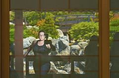 Selfie in the Japanese Garden - EXPLORE (Natalie Bell) Tags: selfie selfportrait garden reflection building photographer daylight sandiego balboapark japanesefriendshipgarden handheld