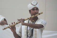 Mujali Island Monks (2016) 02 - musicians (KM's Live Music shots) Tags: worldmusic india mujaliislandmonks bahi indianbambooflute flutebritishmuseum