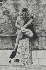 (Mishifuelgato) Tags: white black blanco dark de photography 50mm nikon negro salinas alicante laguna fotografia 18 sax oscuridad piernas d90