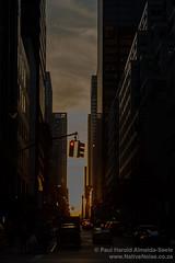 Sunset on East 51st Street, New York (NativePaul) Tags: nyc newyorkcity sunset usa newyork trafficlights america us traffic unitedstates midtownmanhattan east51ststreet