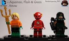 Aquaman, Flash & Green Arrow (Random_Panda) Tags: aquaman flash green arrow lego fig figs figures figure minifig minifigs minifigure minifigures characters character dc comics superhero superheroes hero heroes super comic book books justice league