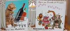 Merci mes ami(e)s pour vos cartes reues par la poste, vos cartes virtuelles et vos phones? Cela me touche.  PAS DE MERCI POUR LE FACTEUR!!!!!!! (liliane776.) Tags: cartes anniversaire