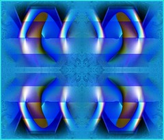 Mirrored in Blue (Joe Vance aka oliver.odd) Tags: blue light abstract color art geometric design wings space revs robots mirrored propeller charged androids