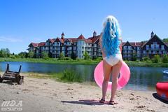 IMG_1728 (MDA Cosplay Photography) Tags: pink blue mountain ontario anime cute beach water pond village collingwood photoshoot princess cosplay tengen manga resort bikini nia swimsuit 2016 toppa gurrenlagann gurren lagann bikinicosplay teppelin gurrenlaganncosplay niacosplay yeticon