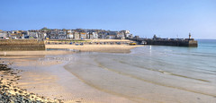 Incoming tide at St Ives, Cornwall (Baz Richardson (now away until 30 July)) Tags: cornwall stives sandybeaches cornishharbours cornishtowns