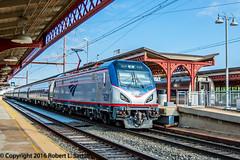 Amtrak 628 on 172, Wilmington,2016-07-20 (redheadedrobbie1) Tags: amtrak nec northeastcorridor siemens acs64 citiessprinter northeastregional cardinal railroad railfan passenger electric locomotive